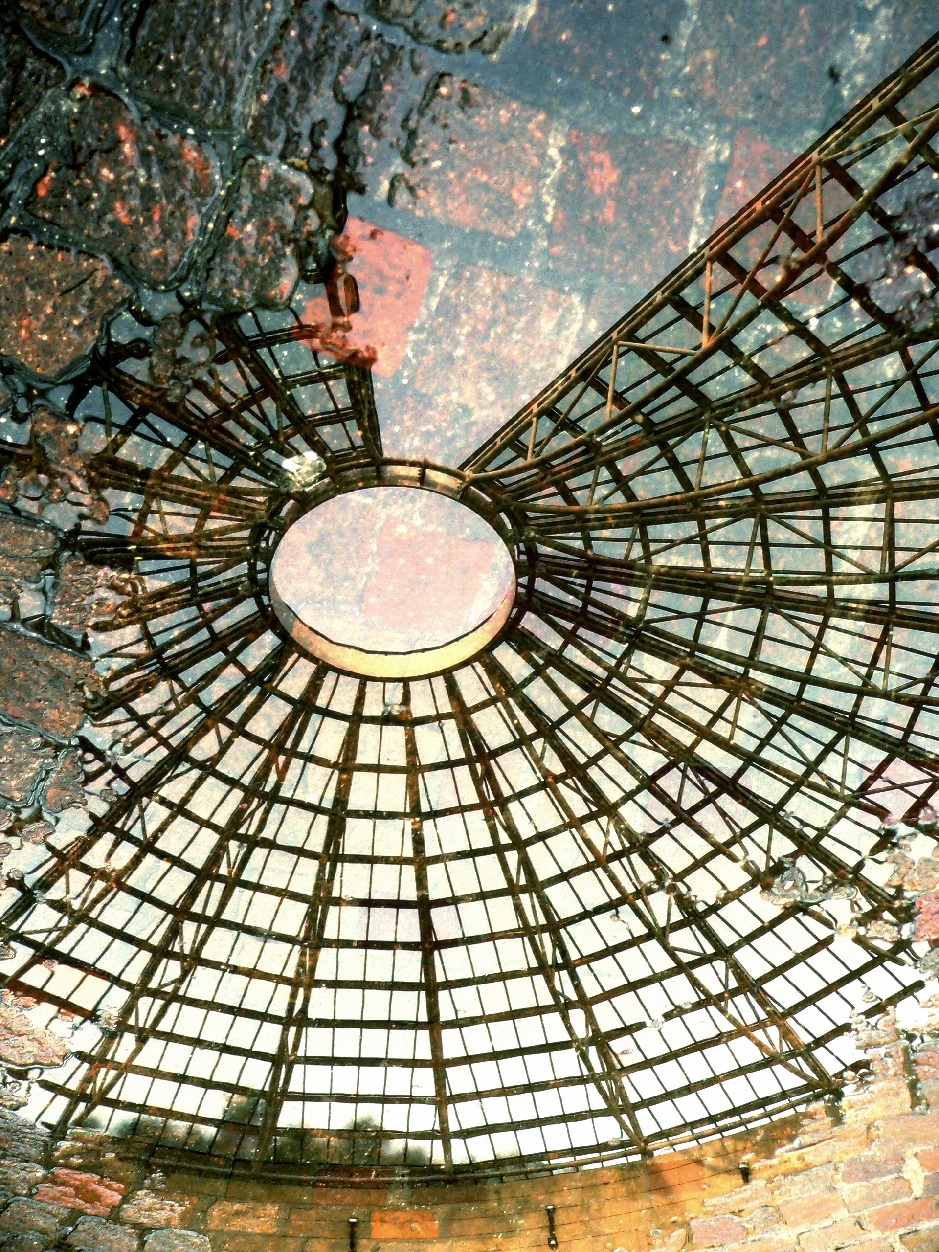 The reflected Dome of the Mart Musem at Rovereto, Italy